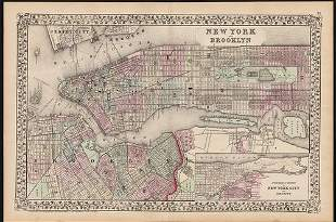 Fine map of New York City and Brooklyn, 1872