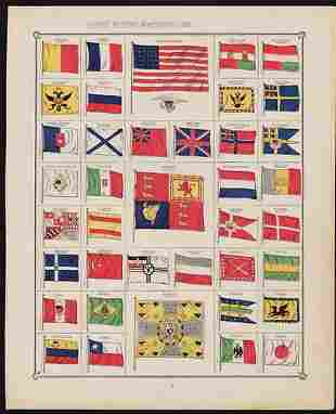 Flags of All Nations chromolithograph, 1883