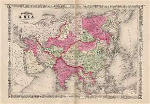 Exceptional map of Asia, Johnson 1867