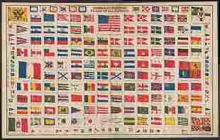Scarce Commercial Flags of Nations, Colton 1868