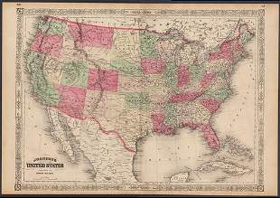 Significant United States map, 1864 Johnson & Ward