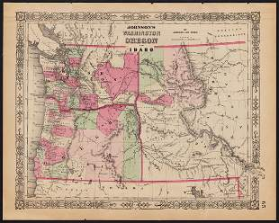First Appearance of Idaho on a Printed Map