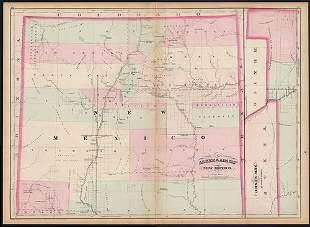 Early RR map of New Mexico Territory