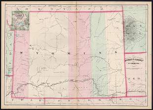 Early RR map of Wyoming Territory