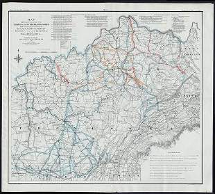 Scarce Civil War map shows Union ops in Ky and Tenn.,