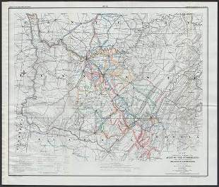 Scarce Civil War map - Rosecrans ops in Ky., Tenn. &