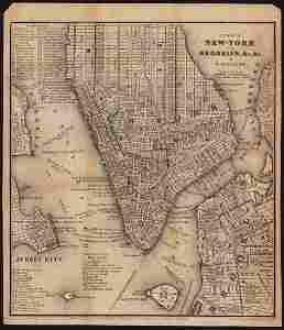 Very scarce NYC & Brooklyn by W. Williams, 1847