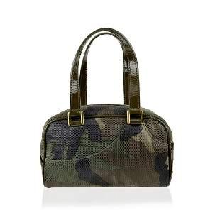 Christian Dior Military Gren Canvas Mini Camouflage
