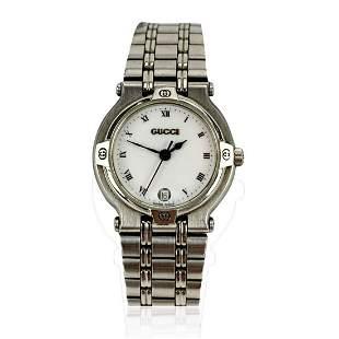 Gucci Vintage Stainless Steel Mod 9100 L Wrist Watch
