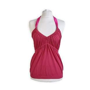 Christian Dior Fuchsia Pink Cotton Halterneck Top Size