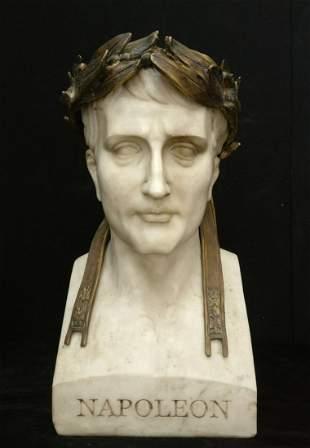 Napoleon crowned emperor - Masterly Bust in Carrara