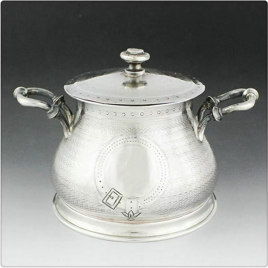 Spanish sterling silver sugar bowl