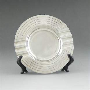 1946 London sterling silver ashtray