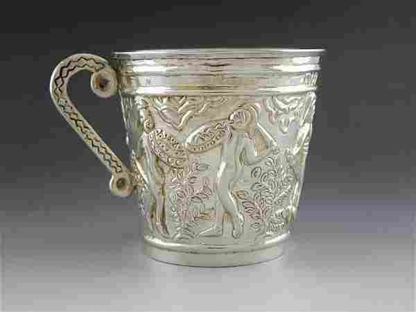 Spanish sterling silver wine glass at the beginning of