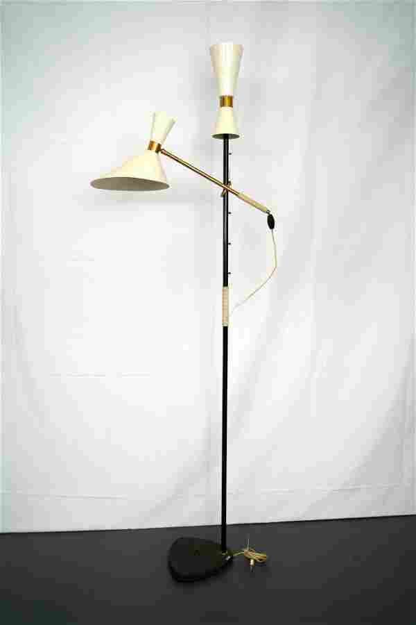 """Brass and Lacquer """"Pelikan"""" Floor Lamp by J.T. Kalmar,"""