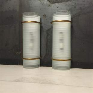 Set of two sconces. Vintage Italian style from 60s.