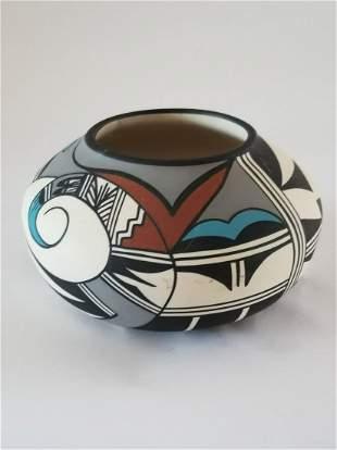 Navajo Hopi Bird Squat Vase