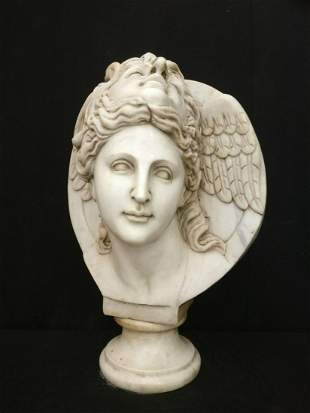 HYPNOS in Carrara marble - Magnificent mythological