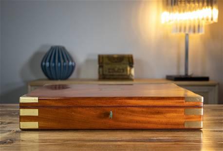 Large Mahogany Desk Box 1890