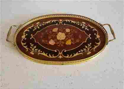 Gold Plated - Mother of Pearl Inlay Server Tray