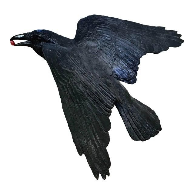 Contemporary Raven Bronze Sculpture by Jim Eppler