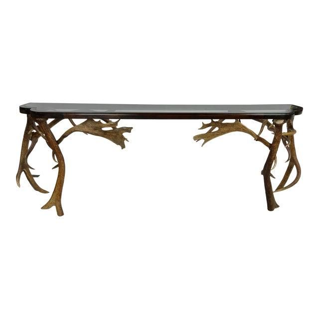 Rustic Antler Console Table