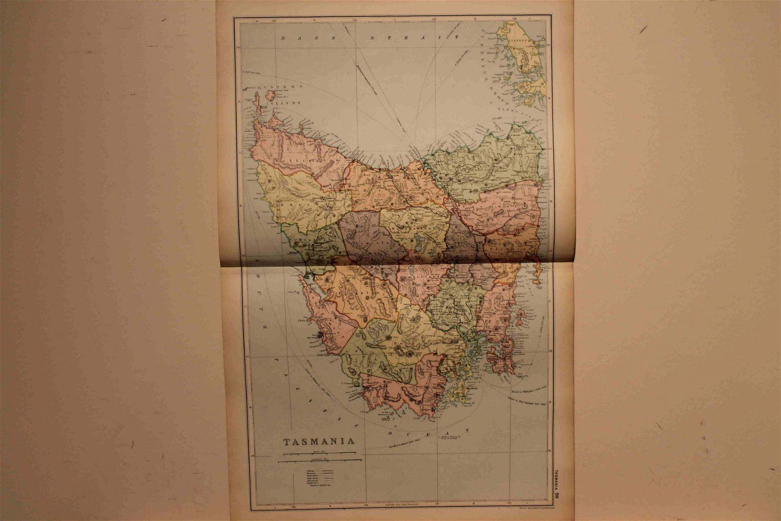 1882 Map of Tasmania