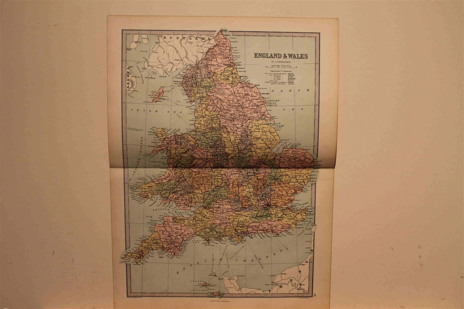 1873 Map of England and Wales