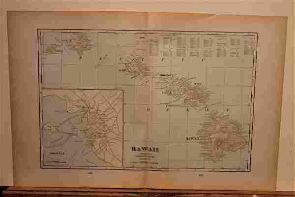 1892 Map of Hawaii