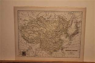 1875 Map of the Chinese Empire