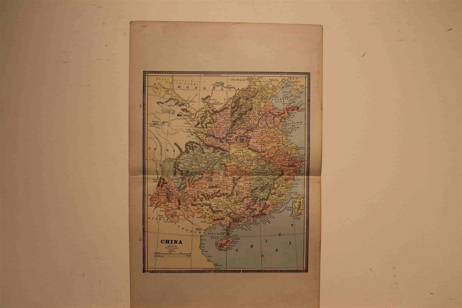 1885 Map of China