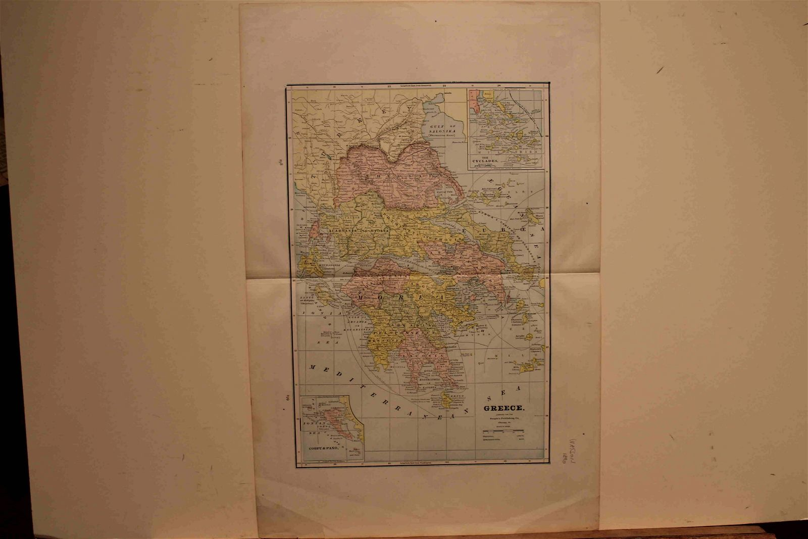 1890 Map of Greece