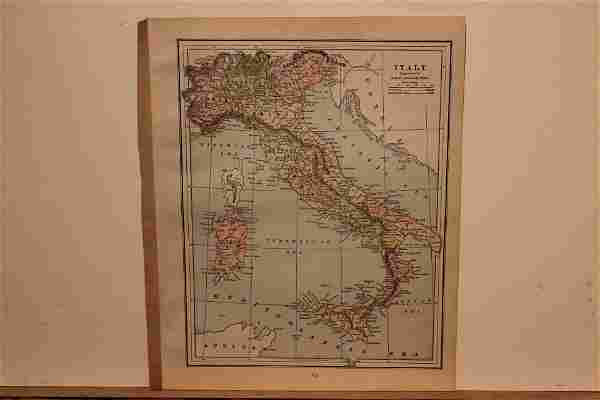 1893 Map of Italy