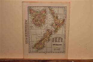 1901 Map of New Zealand
