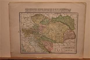 1892 Map of Austria Hungary