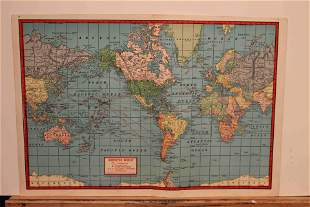 1942 WWII Military Map