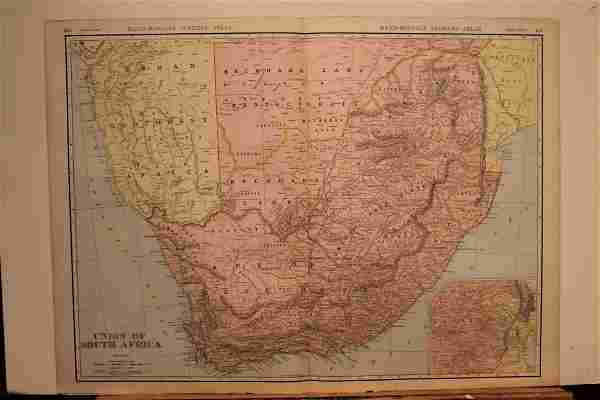 1911 Map of South Africa