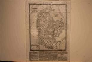 1822 Map of Denmark