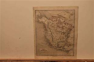 1859 Map of North America