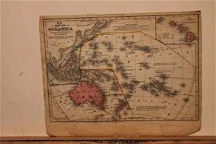 1852 Map of Oceania