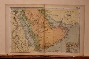 1892 Map of Arabia
