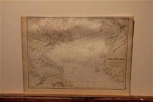 1882 Map of the Atlantic Ocean