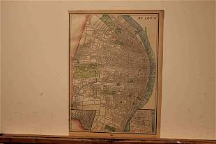 1883 Map of St. Louis