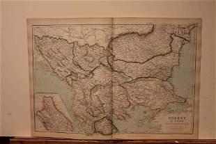 1882 Map of Turkey