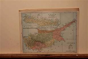 1898 Map of Cyprus