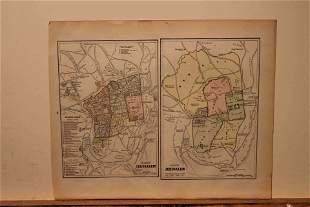 1890 Map of Jerusalem