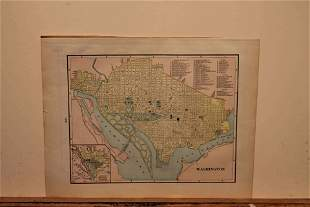 1895 Map of Washington DC