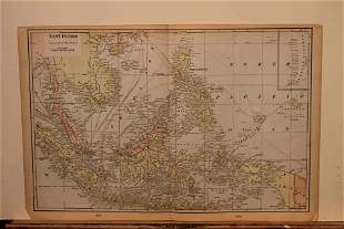 1901 Map of the East Indies