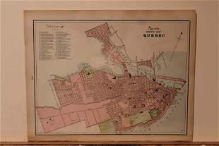 1887 Map of Quebec City