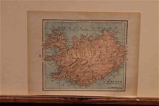 1889 Map of Iceland